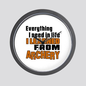 Everything I Learned From Archery Wall Clock