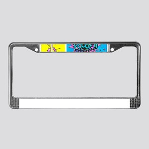 Comic Panels License Plate Frame