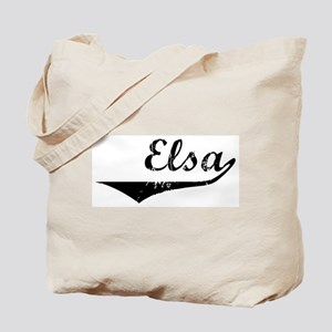 Elsa Vintage (Black) Tote Bag