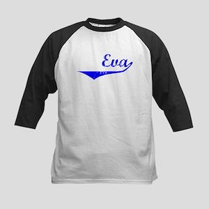 Eva Vintage (Blue) Kids Baseball Jersey