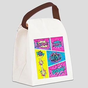 Comic Panels Canvas Lunch Bag