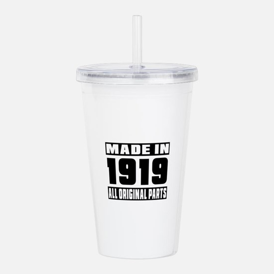 Made In 1919 Acrylic Double-wall Tumbler
