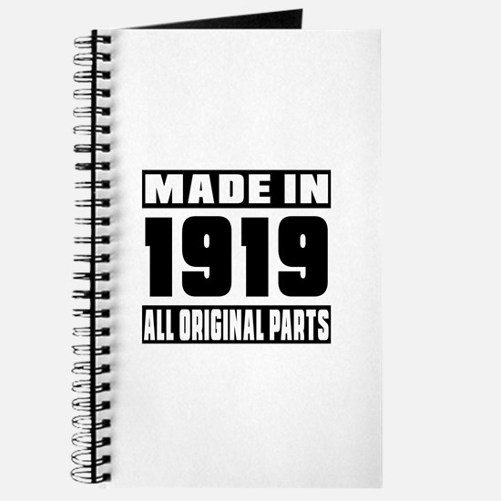 Made In 1919 Journal