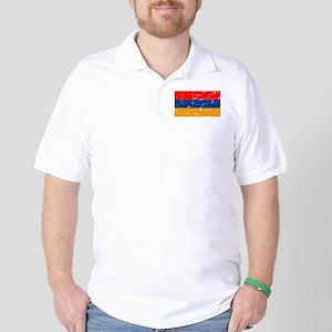 armeniaflagblack Golf Shirt