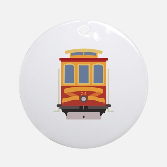 San Francisco Trolley Round Ornament