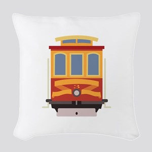 San Francisco Trolley Woven Throw Pillow