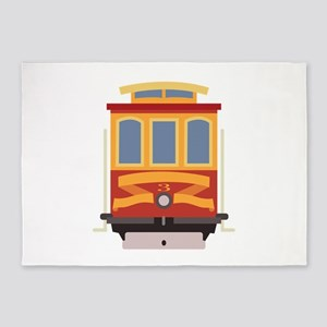 San Francisco Trolley 5'x7'Area Rug