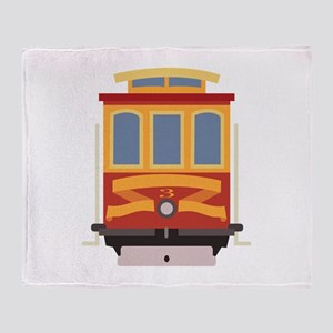 San Francisco Trolley Throw Blanket