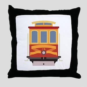 San Francisco Trolley Throw Pillow