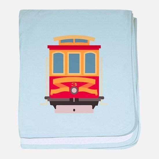 San Francisco Trolley baby blanket