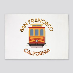 San Francisco Cable Car 5'x7'Area Rug