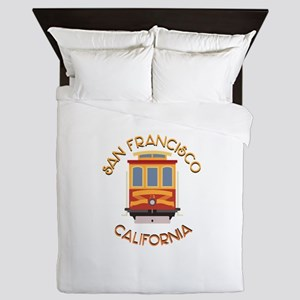 San Francisco Cable Car Queen Duvet