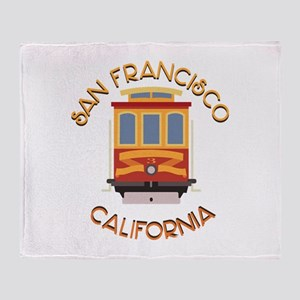 San Francisco Cable Car Throw Blanket