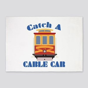 Catch A Cable Car 5'x7'Area Rug