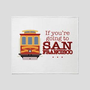 Going To San Francisco Throw Blanket