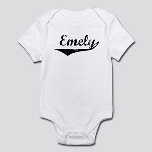 Emely Vintage (Black) Infant Bodysuit