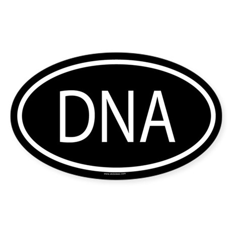 DNA Oval Sticker