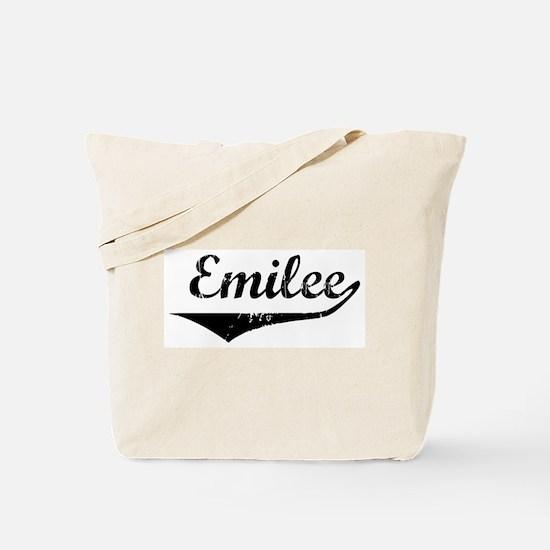 Emilee Vintage (Black) Tote Bag