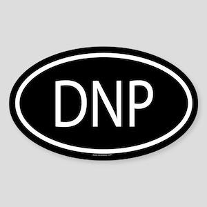 DNP Oval Sticker