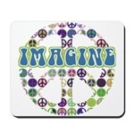 Retro Peace Sign Imagine Mousepad