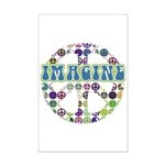 Retro Peace Sign Imagine Mini Poster Print