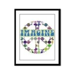 Retro Peace Sign Imagine Framed Panel Print