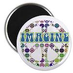 """Retro Peace Sign Imagine 2.25"""" Magnet (10 pack)"""