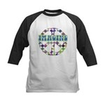 Retro Peace Sign Imagine Kids Baseball Jersey