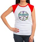 Retro Peace Sign Imagine Women's Cap Sleeve T-Shir