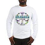 Retro Peace Sign Imagine Long Sleeve T-Shirt