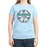 Retro Peace Sign Imagine Women's Light T-Shirt
