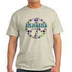 Retro Peace Sign Imagine Light T-Shirt