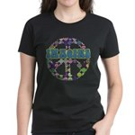 Retro Peace Sign Imagine Women's Dark T-Shirt