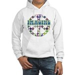 Retro Peace Sign Imagine Hooded Sweatshirt