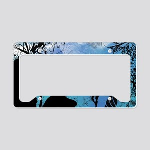 Cute fairy in the night License Plate Holder