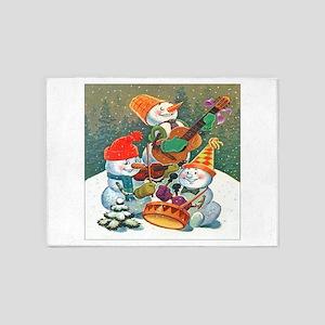Christmas Snowmen 5'x7'Area Rug