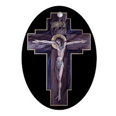 Crucifixion Oval Ornament
