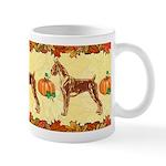 Boxer Autumn Design Mugs