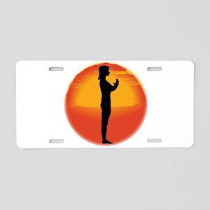 Salutation Yoga Pose Aluminum License Plate