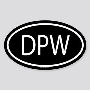 DPW Oval Sticker