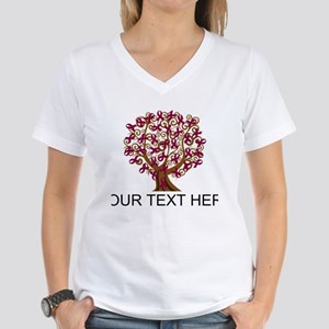 Personalized Burgundy Ribbon T-Shirt
