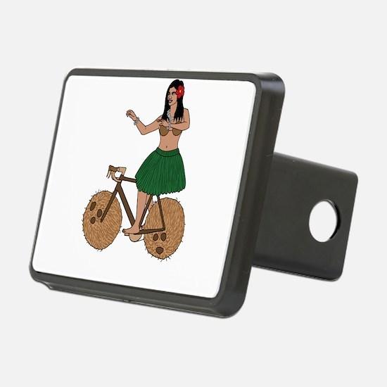 Hula Dancer Riding Bike Wi Hitch Cover