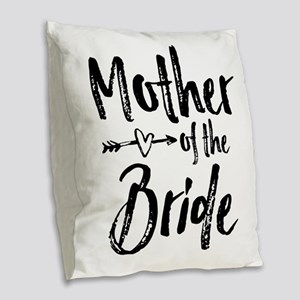 Mother-of-the-Bride Burlap Throw Pillow