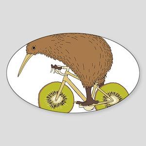 Kiwi Riding Bike With Kiwi Wheels Sticker