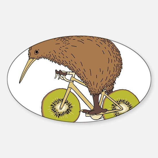 Kiwi Riding Bike With Kiwi Wheels Decal
