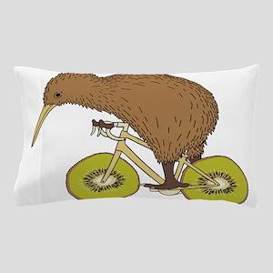 Kiwi Riding Bike With Kiwi Wheels Pillow Case
