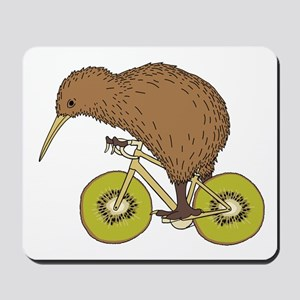 Kiwi Riding Bike With Kiwi Wheels Mousepad