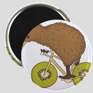 Kiwi Riding Bike With Kiwi Wheels Magnets