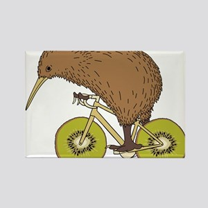 Kiwi Riding Bike With Kiwi Wheels Magnets