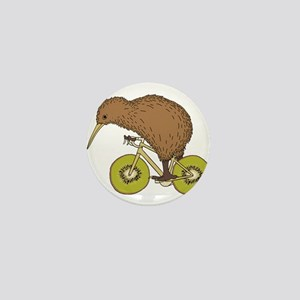 Kiwi Riding Bike With Kiwi Wheels Mini Button